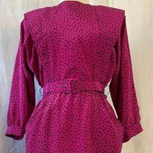 Candace by Ingrid Dress Size 6 Modest Pink & Black